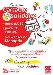 Opération Cartable Solidaire