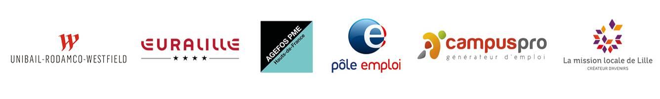 Partenaires Skola - Euralille Ageofs PME HDF Pole Emploi Campus Pro