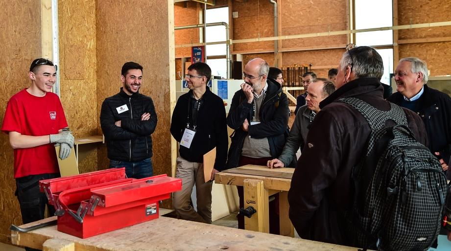 150 chefs d'entreprise partage 1H avec 40 apprentis du Centre Sainte-Barbe