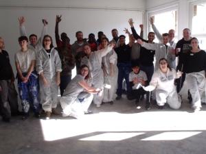 Les jeunes du DRPA et les salariés de Kiloutou